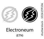 black electroneum... | Shutterstock .eps vector #1026159106