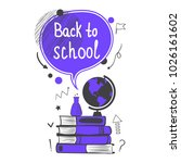 back to school concept with... | Shutterstock .eps vector #1026161602
