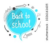 back to school concept. blue... | Shutterstock .eps vector #1026161605