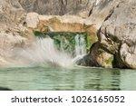 Small Mountain Waterfall On Th...