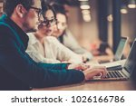 creative colleagues... | Shutterstock . vector #1026166786