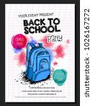 template for back to school | Shutterstock .eps vector #1026167272