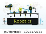factory is making robots.... | Shutterstock .eps vector #1026172186