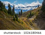 high divide backpacking trail... | Shutterstock . vector #1026180466