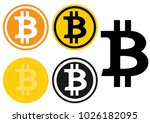 bitcoin cryptocurrency symbol...   Shutterstock .eps vector #1026182095