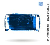 blue brush stroke and texture.... | Shutterstock .eps vector #1026193636