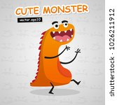 cute monster vector use for... | Shutterstock .eps vector #1026211912