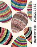 colorful easter eggs pattern.... | Shutterstock .eps vector #1026213952