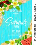 summer party poster invitation | Shutterstock .eps vector #1026243052