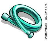 silicone sanitary hose isolated ...   Shutterstock .eps vector #1026245476