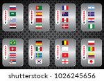 vector flags of the country.... | Shutterstock .eps vector #1026245656