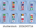 vector flags of the country.... | Shutterstock .eps vector #1026245716