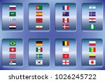 vector flags of the country.... | Shutterstock .eps vector #1026245722