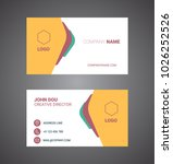 business card. vector. modern... | Shutterstock .eps vector #1026252526