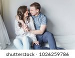 couple in love having nice time ... | Shutterstock . vector #1026259786