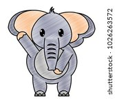grated adorable elephant wild... | Shutterstock .eps vector #1026263572