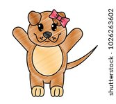 grated adorable female dog... | Shutterstock .eps vector #1026263602