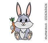 grated adorable rabbit wild... | Shutterstock .eps vector #1026263626