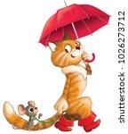 illustration. funny cartoon.... | Shutterstock . vector #1026273712