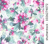 floral background. seamless... | Shutterstock .eps vector #1026274072