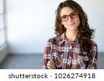 fun quirky headshot of... | Shutterstock . vector #1026274918