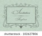 invitation cards in an old... | Shutterstock .eps vector #102627806
