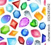 seamless colorful gemstones... | Shutterstock .eps vector #1026281542