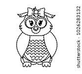 dotted shape female owl cute...   Shutterstock .eps vector #1026283132