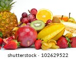 fresh tropical fruits | Shutterstock . vector #102629522