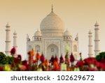 taj mahal in sunset light  agra ... | Shutterstock . vector #102629672
