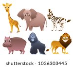 set of african animals isolated ... | Shutterstock .eps vector #1026303445