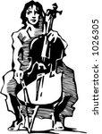 vector illustration of musician. | Shutterstock .eps vector #1026305