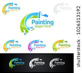 painting business logo | Shutterstock .eps vector #1026313192