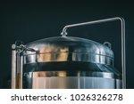 craft beer brewing equipment in ... | Shutterstock . vector #1026326278