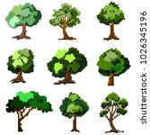set of trees vector... | Shutterstock .eps vector #1026345196
