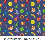 lucky charms seamless pattern... | Shutterstock .eps vector #1026351256