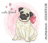 hand drawn cute  little cartoon ... | Shutterstock .eps vector #1026355138