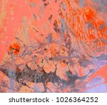 abstract painting. ink handmade ... | Shutterstock . vector #1026364252