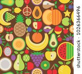 seamless pattern of assorted... | Shutterstock .eps vector #1026366496