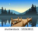 an outdoor scene of a fishing... | Shutterstock .eps vector #10263811