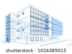 architecture building 3d... | Shutterstock . vector #1026385015