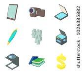 film project icons set. cartoon ... | Shutterstock .eps vector #1026385882