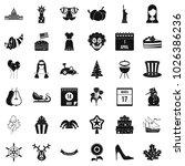 folklore festival icons set.... | Shutterstock .eps vector #1026386236
