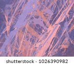 abstract painting. ink handmade ... | Shutterstock . vector #1026390982