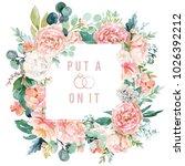 watercolor floral illustration  ... | Shutterstock . vector #1026392212