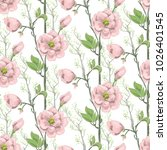 seamless spring pattern with... | Shutterstock .eps vector #1026401545