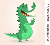 cute cartoon crocodile. vector  ...   Shutterstock .eps vector #1026408772
