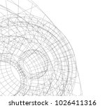 abstract architecture vector 3d ... | Shutterstock .eps vector #1026411316
