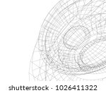 abstract architecture vector 3d ... | Shutterstock .eps vector #1026411322