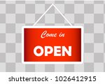 a business sign that says 'come ... | Shutterstock .eps vector #1026412915